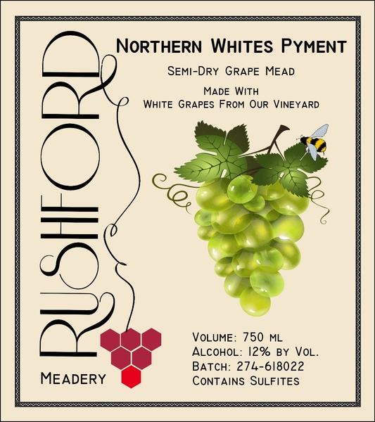 2016 2016 Northern Whites Pyment - 375ml