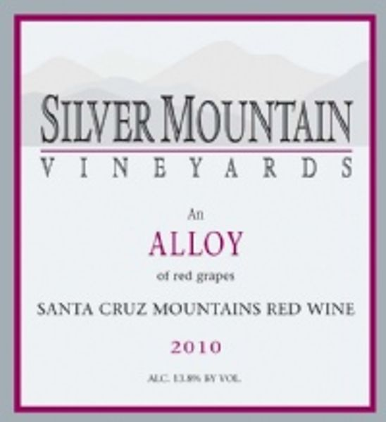 Silver Mountain Vineyards 2010 Alloy, 40th Anniversery Special label
