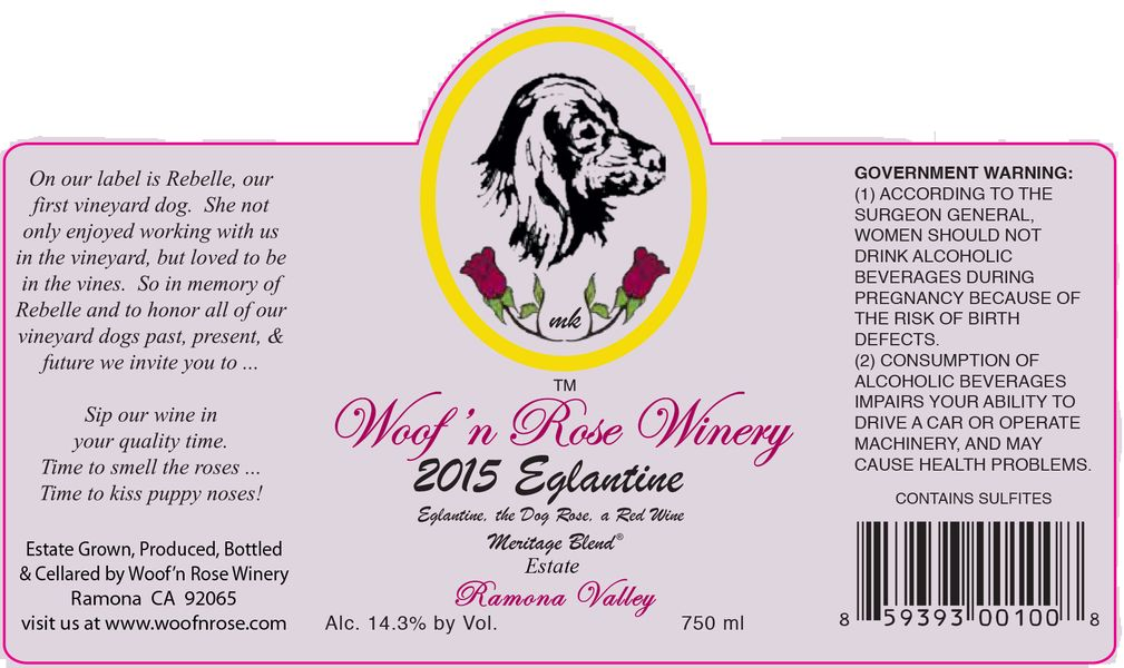 2015 Estate Eglantine