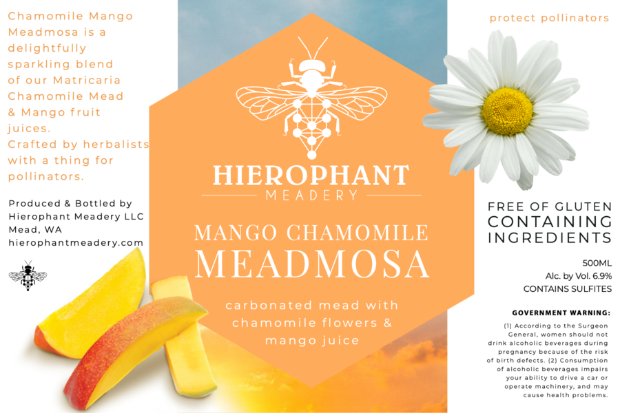 Mango Chamomile Meadmosa 500ML