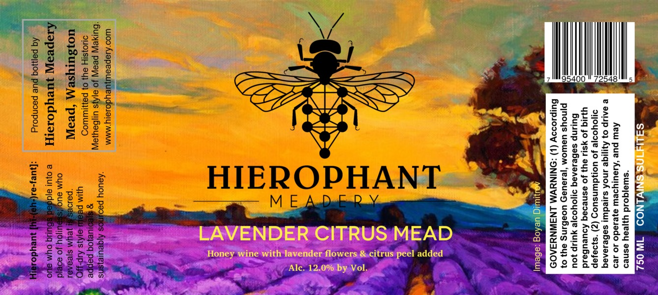 Product Image for 2016 Lavender Citrus Mead 750ML