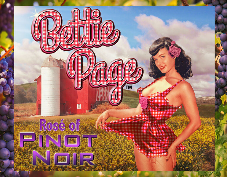 Bettie Page Rose of Pinot Noir