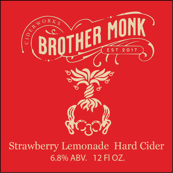 Brother Monk Strawberry Lemonade Hard Cider