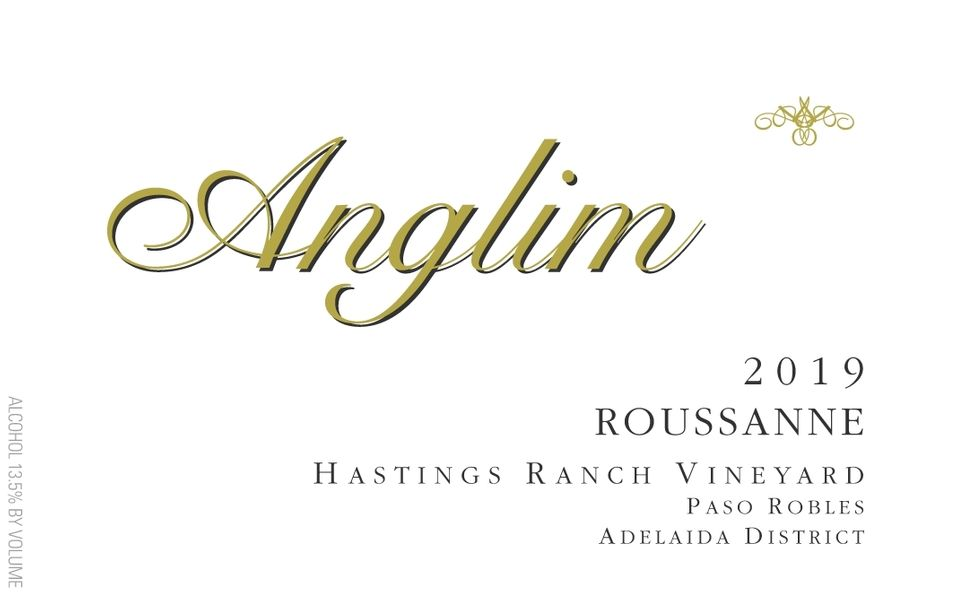 2019 Roussanne Hastings Ranch Vineyard, Paso Robles Adelaida District