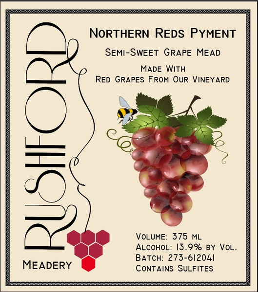 2016 Northern Reds Pyment - 375mL