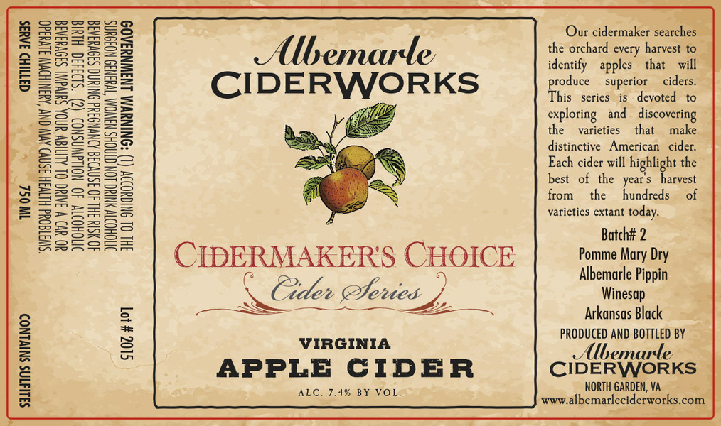 Product Image for 2015 Cidermaker's Choice - Batch #2
