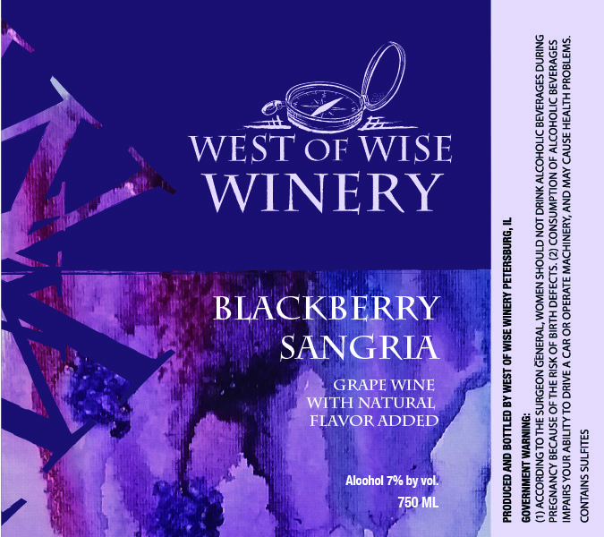 2018 West of Wise Winery Blackberry Sangria