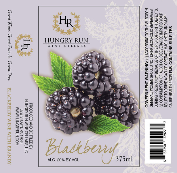 2019 Blackberry Dessert Wine