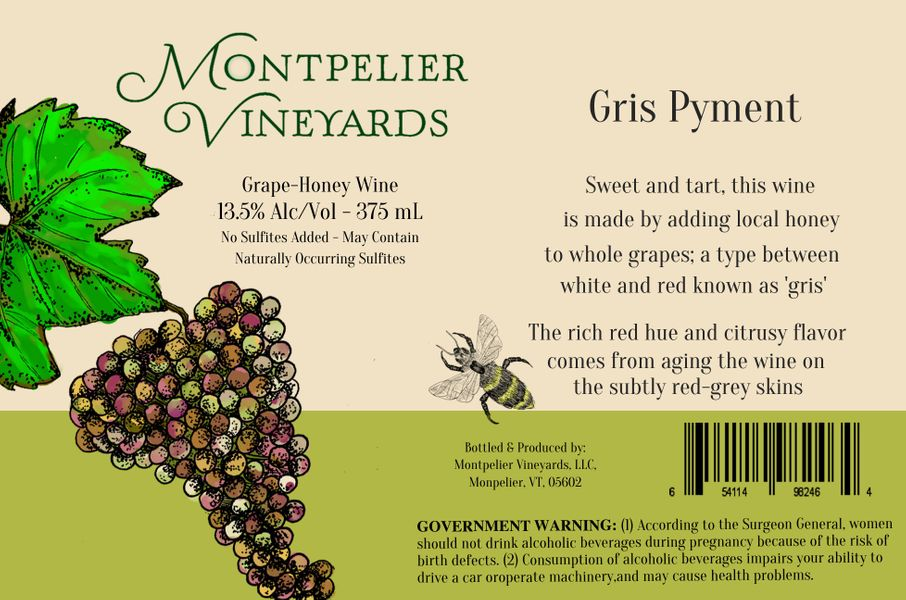 2019 Gris Pyment Grape Honey Wine