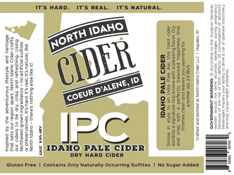 Product Image for 2017 North Idaho Pale Cider (IPC)