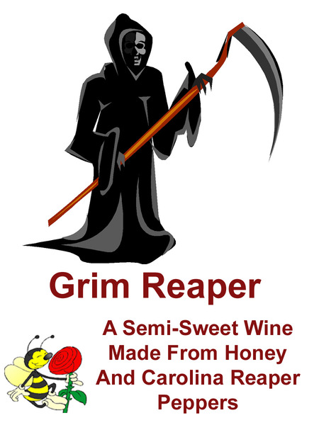 Grim Reaper Clover Mead infused with Carolina Reaper Peppers