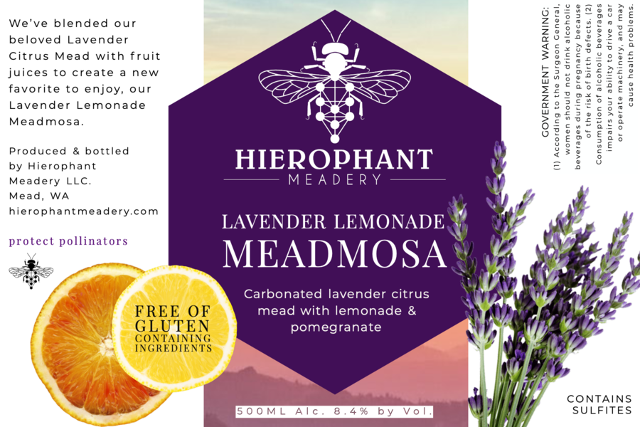 Lavender Lemonade Meadmosa 500ML