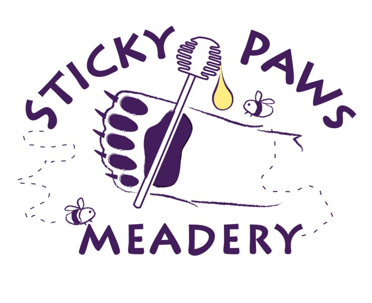 Logo for Sticky Paws Meadery