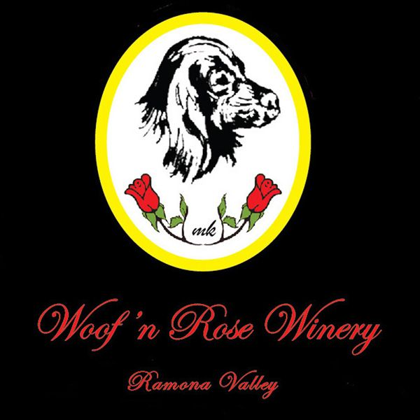 Logo for Woof'n Rose Winery