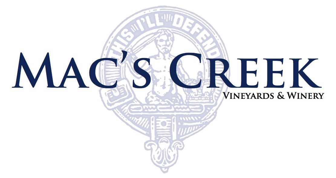 Logo for Mac's Creek Winery & Vineyards