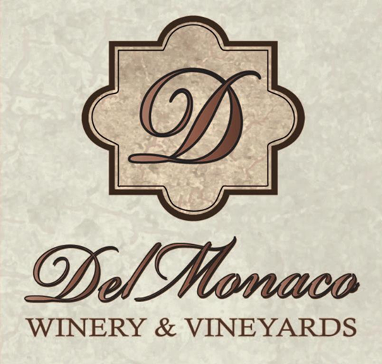 Brand for DelMonaco Winery & Vineyards