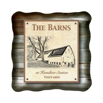 Logo for The Barns at Hamilton Station Vineyards