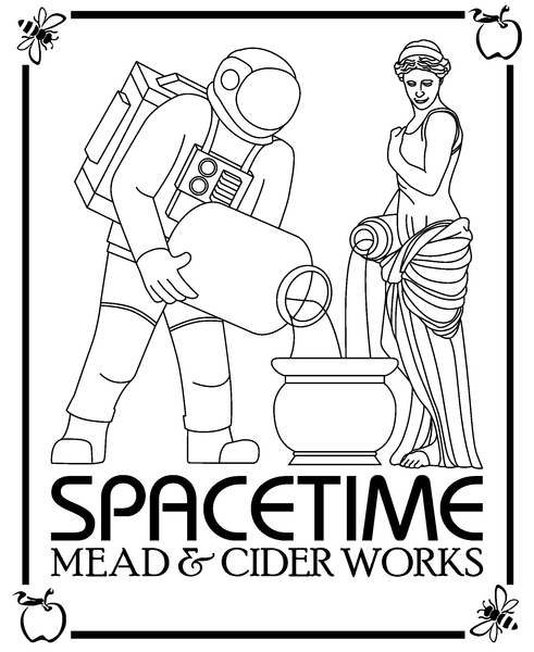 Brand for Space Time Mead & Cider Works