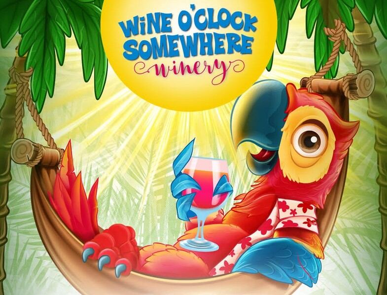Logo for Wine O'Clock Somewhere Winery LLC