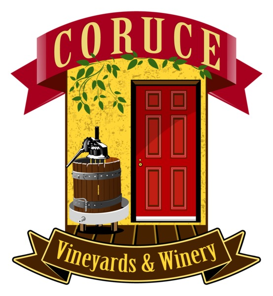 Logo for Coruce Vineyards and Winery