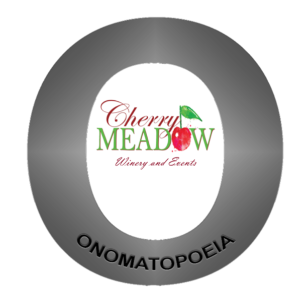 Logo for Cherry Meadow Winery, Onomatopoeia Wines