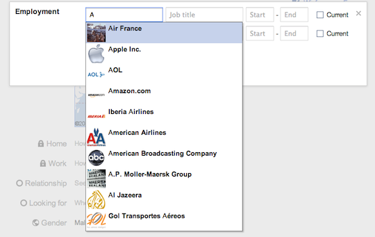 Companies with logo's appear on google+ profile