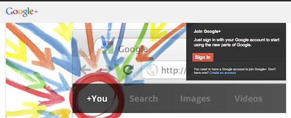 Google+ Sign In page