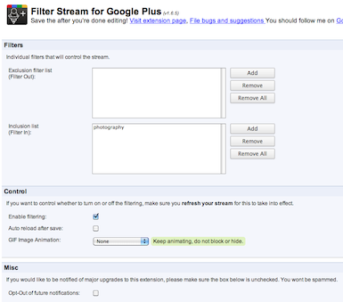 Stream Filter Options by Keyword