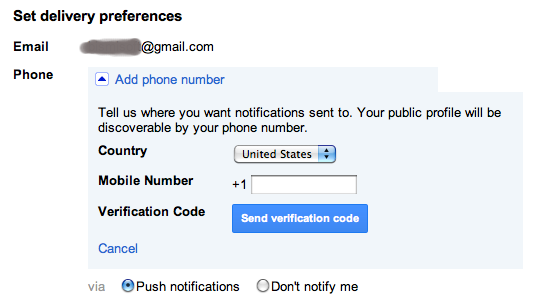 Adding Phone Number to your Google+ profile