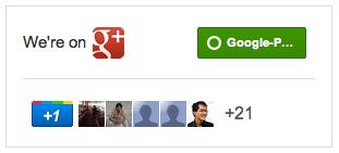 Google+ news page badge/widget!