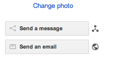 Google+ send email or private message options