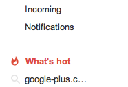What's hot link on Google+