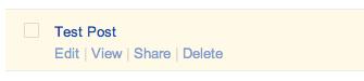 Bogger post Google+ share link