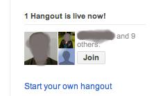Hangout from Google+ Stream