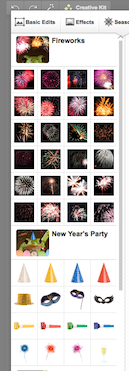 Google+ Photos New Year's Party and Fireworks Seasonal Effects Added to Creative Kit!