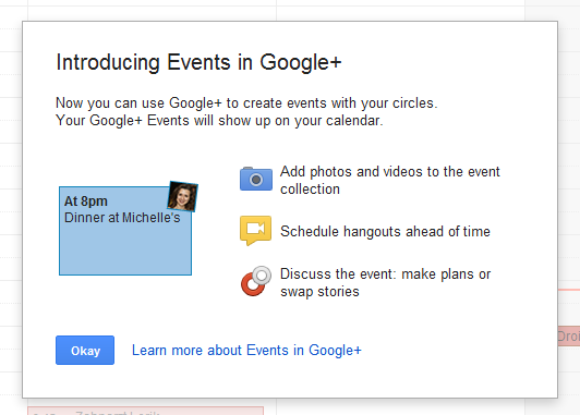 Google+ Events Is Spotted in the Wild : Scheduling Hangouts Coming?