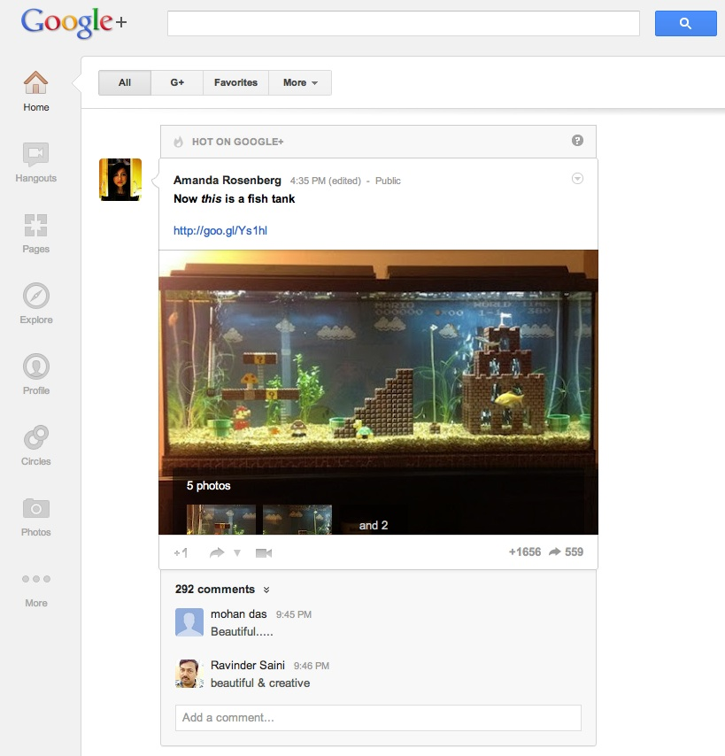 Reorder and Customize Google+ Navigation Ribbon or Icons