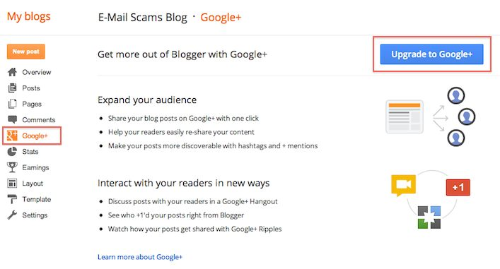 Blogger or blogspot the popular blog platform gets Google+ integration : Now connect your blog to your profile or business page!