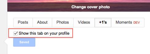 disable plusone tab on profile