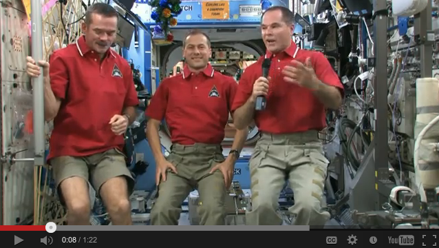 Happy New Year 2013 From Space Station Crew [Video]