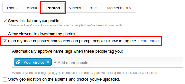 How to Disable Face Tagging (Aka Find My Face) in Google+?