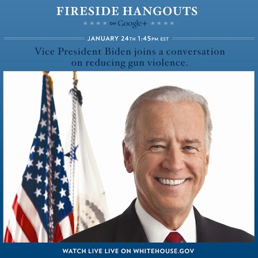 Join Vice President Joe Biden on White House Fireside Hangouts Tomorrow!