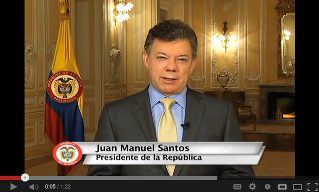 Mr. Juan Manuel Santos President of Columbia Invites for an Google+ Hangout [Video]