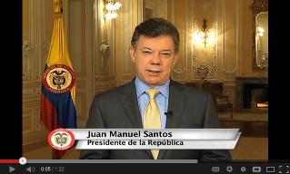 Mr. Juan Manuel Santos President of Columbia Invites for an Google+ Hangout [Video]