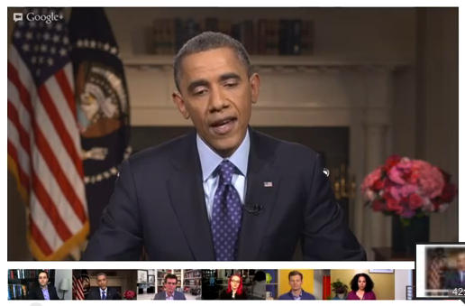 President Obama state of the union fireside google+ hangout recorded video
