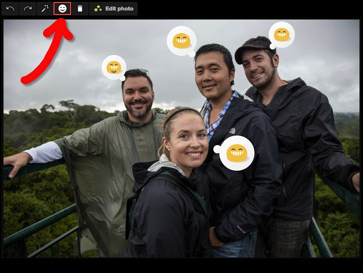 emotional icons in google+ photos