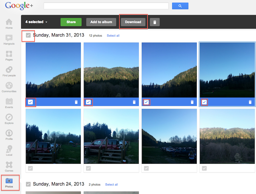 How to Download Instant Upload Photos From Google+?