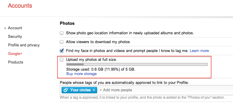 enable upload photos at full size or resolution