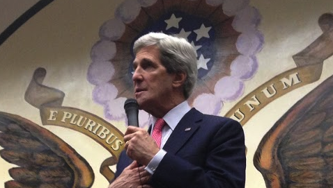 Discuss US foreign policy with secretary of state John Kerry in an hangout