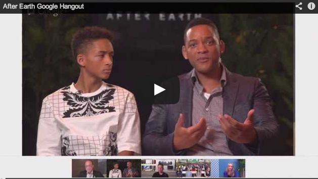 Will Smith and Jaden Smith in this After Earth movie Google+ hangout [video]